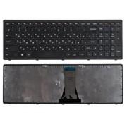 Клавиатура для ноутбука Lenovo IdeaPad Flex 15, 15D, G500S, G505, G505A, G505G, G505S, S500, S510, S510P, Z510 Черная, черная рамка