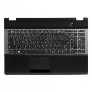 Верхняя панель с клавиатурой Samsung Q530, QX530, RC528, RC530, RC730, RF510, RF511, RF530, SF510, SF511, NP-Q530, NP-RC530, NP-RC730, NP-RF510, NP-RF511, NP-SF510, NP-SF511 Черная
